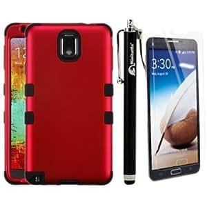 Bloutina MINITURTLE, Premium Sleek Dual Layer 2 in 1 Hybrid Hard Protective TUFF Phone Case Cover, Stylus Pen, and Screen...