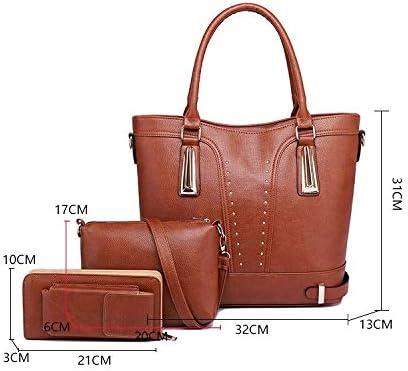 Lianlian Shoulder Bags Borsa Crossbody 3 in 1 Casual Spalla dell'unità di Elaborazione delle Signore di Sacchetto Borsa Messenger Bag (Nero) (Colore : Black) Black