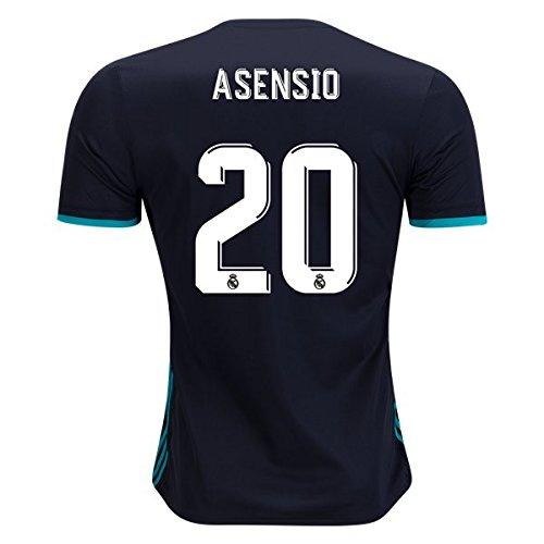Asensio 20 Real Madrid Away 17 / 18サッカージャージーメンズカラーブラックサイズL B079Z8XJTX