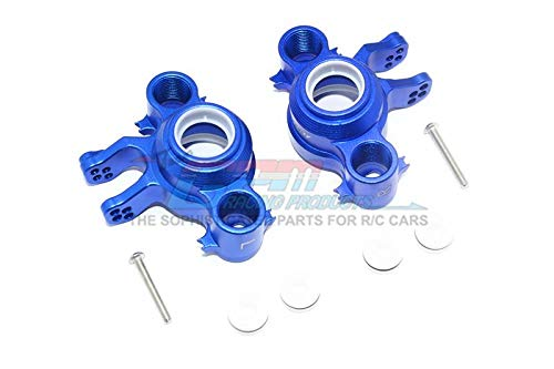 Knuckle Arm Set - GPM Traxxas E-Revo 2.0 VXL Brushless (86086-4) Upgrade Parts Aluminum Front / Rear Knuckle Arms - 1Pr Set Blue