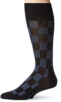 Calvin Klein Men's Checker Stripe Crew Sock
