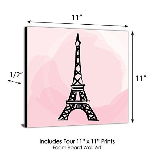 "Paris, Ooh La La - Kids Room, Nursery & Home Decor - 11"" x 11"" Kids Wall Art - Set of 4 Prints by Big Dot of Happiness (Image #5)"