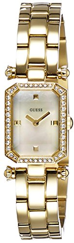 GUESS Women's Analog Mother Of Pearl Dial Watch