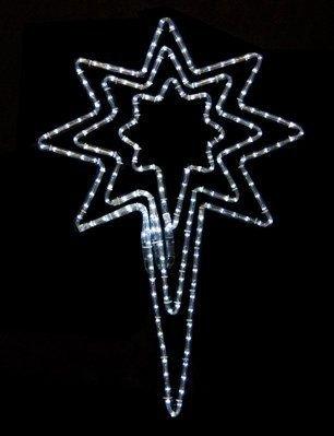 Queens of Christmas LED-BSTR-PW-32 Bethlehem Star Decorative Light, 32