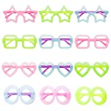 Party Eye Glasses Cute Wide Frame eyeglass For Kids Decorations, 12 Pack