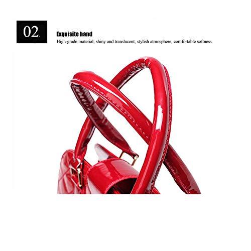 Red Mujer Cubierto Material Jixdf Pu Bolso Hombro De 7PwxZSaq