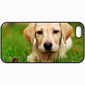Customized Cellphone Case Back Cover For Case For Iphone 6 4.7 Inch Cover , Protective Hardshell Case Personalized Dogs Puppy 33213 Black