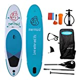 YASKA 10.6ft Allround Inflatable Stand Up Paddle Boards, Non-Slip Deck(4 Inches Thick) with Adjustable Paddle,Fin, Leash, Hand Pump, Backpack and Repair Kit