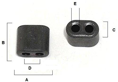 10 Toroid Aperture Core BN43-202 Ferrite Torroid by Fair-Rite