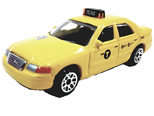 Ford Taxi Cab - Daron NYC Ford Crown Victoria Yellow Medallion Taxi Cab 1/64 Scale Diecast Car