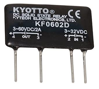 Kyoto Electric KF0602D DC-to-DC Solid State Relay, 32 Volt, DC Input, 2  Amp, 4-Pin, 1 4