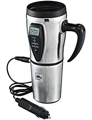 Tech Tools Heated Smart Travel Mug with Temperature Control 12V - Stainless Steel