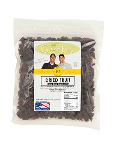Dried Cape Cod Cranberries, Unsulfured by Gerbs - 2 LB Deal - Top 11 Food Allergen Friendly & NON GMO - Product of USA