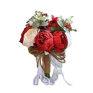 ALISHA BRYANT Vintage Court Style Wedding Artificial Hand Flower Bridal Wedding Decoration Bridesmaid Wedding Bouquet,F04 54