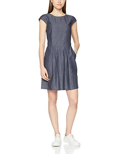 Damen Chambray 7246 Wolantha Blue OPUS Blau Kleid Deep dO1awtq