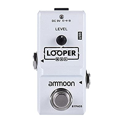 ammoon AP-09 Nano Loop Electric Guitar Effect Pedal Looper True Bypass Unlimited Overdubs 10 Minutes Recording with USB Cable by ammoon