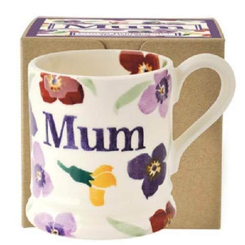 Emma Bridgewater - Wallflower 'Mum' 1/2 Pint Mug, Boxed by Emma - 1/2 Flowers Pint Mug