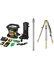 DEWALT 20V MAX Laser Level Kit, Rotary, Green, 2000-Foot Range (DW080LGSK)
