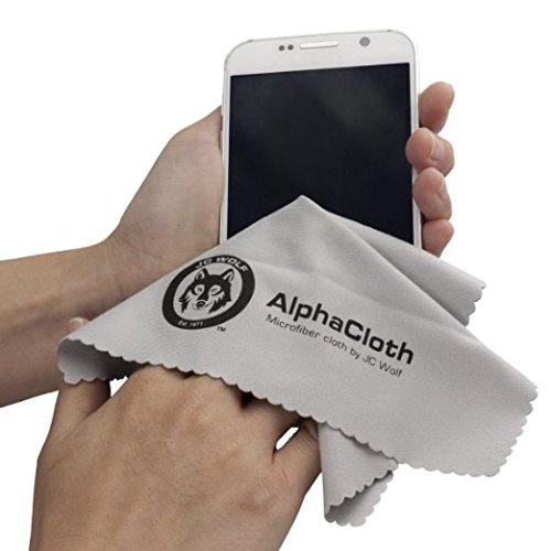 (10 Pack) JC Wolf Alpha Microfiber Cleaning Cloths - For All LCD Screens, Tablets, Lenses, and Other Delicate Surfaces