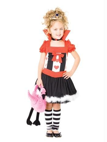 Leg Avenue Girls Queen of Hearts (Toddler Queen Of Hearts Halloween Costume)