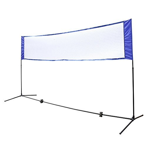Cocohot Durable Lightweight and Portable Badminton Volleyball or Tennis Net Set Stand for Family Sport Outdoor Games