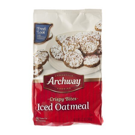 Archway Homestyle Cookies Crispy Bites Iced Oatmeal 12.0 OZ -