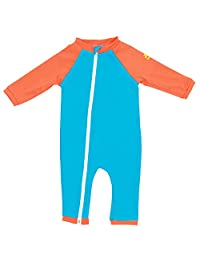 Nozone Full Zip Sun Protective Baby Swimsuit - in Your Choice of Colors - UPF 50+
