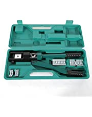 Berkalash 16T hydrauliska presstänger, 16–300 mm² hydraulisk tångsats, presstång med vridbart presshuvud, pressar aluminium och koppartråd