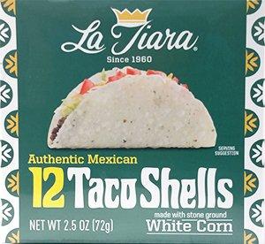 (La Tiara White Taco Shell Box of 12 (Pack of 2))