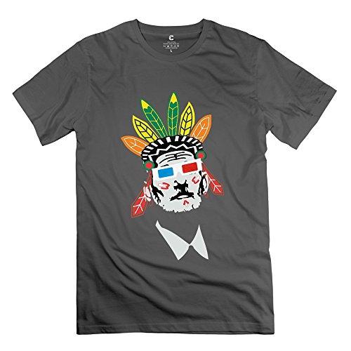 TGRJ Men's T Shirts - Bill Murray Chicago Blackhawks Tampa Bay Lightning DeepHeather Size L