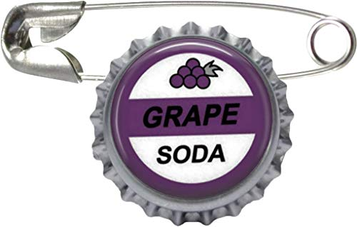 1 Grape Soda Bottle Cap Pin Inspired by