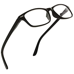 Trendy Bifocal Reading Glasses Readers with Spring Hinges for Men and Women [Small Frame Black, 1.25]