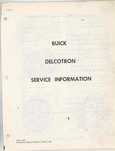 1962 Alternator (1962 Buick Delcotron Alternator Repair Manual Brochure)