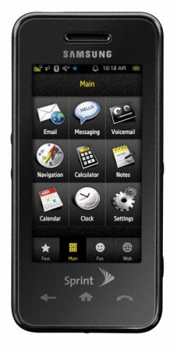 amazon com samsung instinct sph m800 phone black sprint cell rh amazon com Features Samsung Instinct Samsung Instinct S30 M810