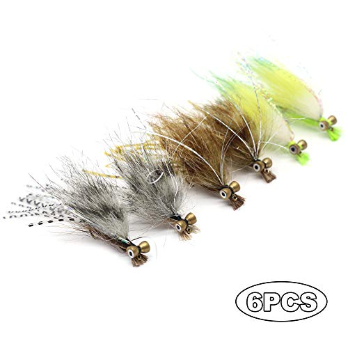YZD Fly Fishing Big Fish Flies Kit Top 5 Steelhead Rainbow Trout Flies Fly Fishing Gear Premium Wet Dry Flies Lures Streamer Nymph Emerger Fishing Assorted Trout Flies (NZF-03)