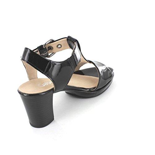 Gabor 62.394.97 Damen Sandalette, Schwarz 40 EU