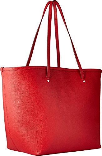COACH Women's Crossgrain Large Street Tote Im/Bright Red One Size