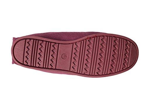 Kuru, Pantofole Da Donna Rosso Burgandy Tartan 39