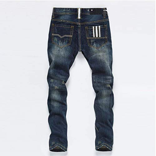 Da White Casual Gamba Denim Estilo Denim Vintage Uomo Especial Bobo Pantaloni Aderenti Ssig Stretch Dritta 88 In Jeans 1 EnFTzwqaW