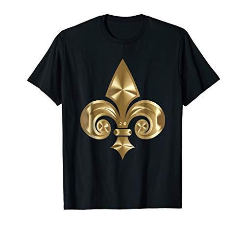 Gold Fleur De Lis T-Shirt Fleur De Lys Flower De - 12147 Lis Fleur De
