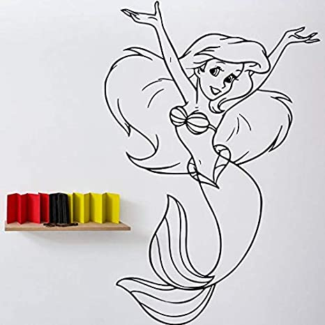 Crjzty Sirena Vinilo Etiqueta de la Pared diseño Popular ...