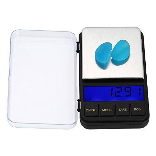 Festnight Eléctrica Báscula de Bolsillo de Cocina y Alimentos y Hornear con Protective Cover, Pantalla Grande LCD de 2.5