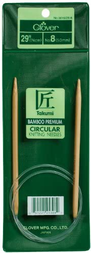 Agujas de tejer circulares de bambú Takumi de 29 .N°8