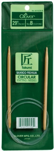 Clover 3016/29-08 Takumi Bamboo Circular 29-Inch Knitting Needles, Size 8
