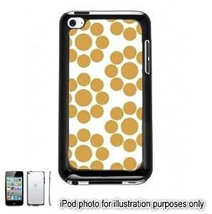 Gold Circle Dots Pattern Apple iPod 4 Touch Hard Case Cover Shell Black 4th Generation Kimberly Kurzendoerfer