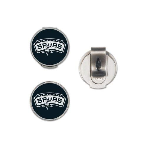 (WinCraft NBA San Antonio Spurs Clamshell Hat Clip with 2 Markers)