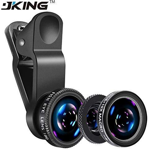 3 in 1 Mobile Phone Macro Fish Eye Lens Universal Wide Camera Lenses fisheye for iPhone 5 5S 5C 6 6s Plus 7 Plus Phone Black (Fish Eye Lens For Iphone 5c)