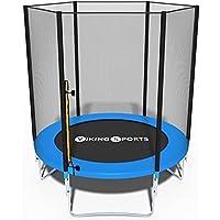 Trampoline - blauw - 183 cm diameter - met veiligheidsnet - tot 90 KG