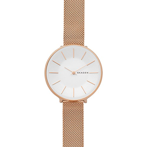 - Skagen Women's Karolina Japanese-Quartz Watch with Stainless-Steel Strap, Rose Gold, 14 (Model: SKW2688)