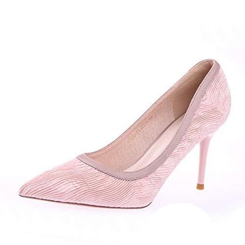 rosa Scarpe banchetto piatta oro a EU 39 in spillo con punta a da velluto YMFIE tacchi ZxqwXdHH